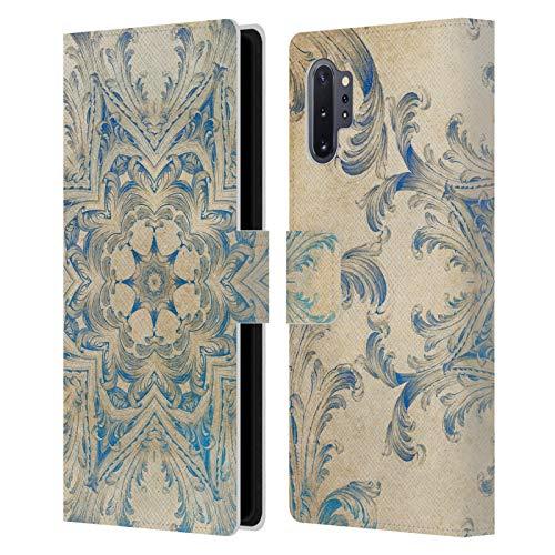 Head Case Designs Licenciado Oficialmente Aimee Stewart Blue Sky Swirl Mandala Carcasa de Cuero Tipo Libro Compatible con Samsung Galaxy Note10+