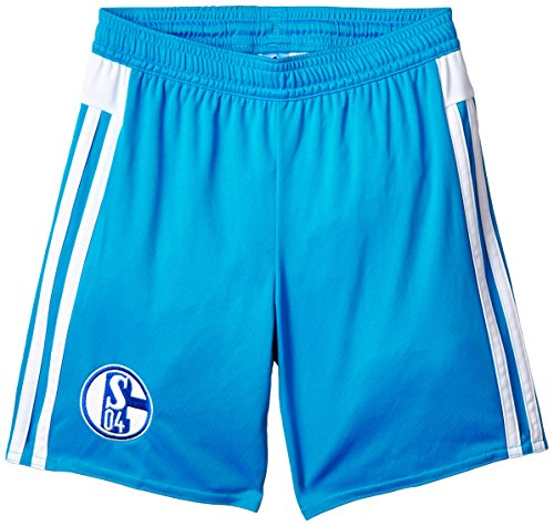 adidas Kinder Shorts Schalke 04 Auswärts, Bold Aqua/White, 152