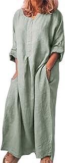 Shallood Vestito Donna con Manica Corta Abiti Estivi Donna Stampa Floreale Taglia S-XL 03 Verde 40