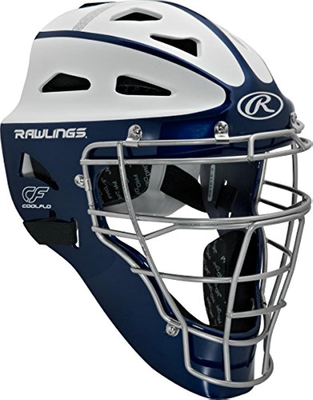 Rawlings Sporting Goods Adult Softball Predective Hockey Style Catcher's Helmet, Navy White