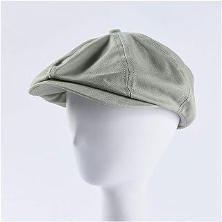 SHENTIANWEI New Cap Men's Wild Color Cotton Cloth Forward hat Female Casual Beret Painter hat (Color : Green)