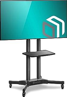 """ONKRON Stojak pod telewizor, podstawa do ekranów 40""""-65"""", uchwyt z regulacją wysokości, na kółkach, VESA 200 x 200 do 600 ..."""