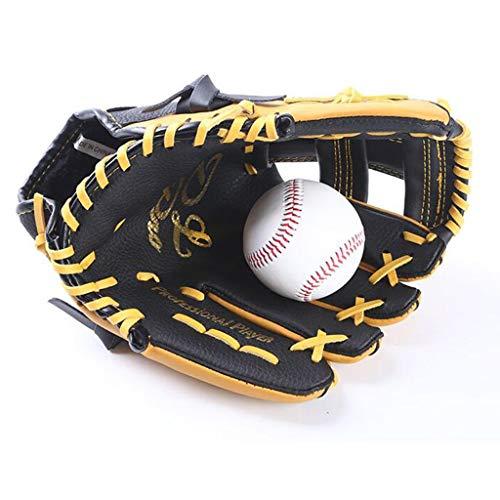 XYHX Baseballhandschuhe, Kinder, Linke und rechte Hand, Softballhandschuhe, Zwei Schichten Rindsleder, Nicht leicht zu brechen (größe : L)