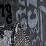Trendiger Kaffee Teppich, verschiedene Schriftarten und Muster, Meliert in Grau, Weiß und Schwarz ideal für die Lounge oder Küche – ÖKO TEX Zertifiziert, Maße:120 cm x 170 cm - 2