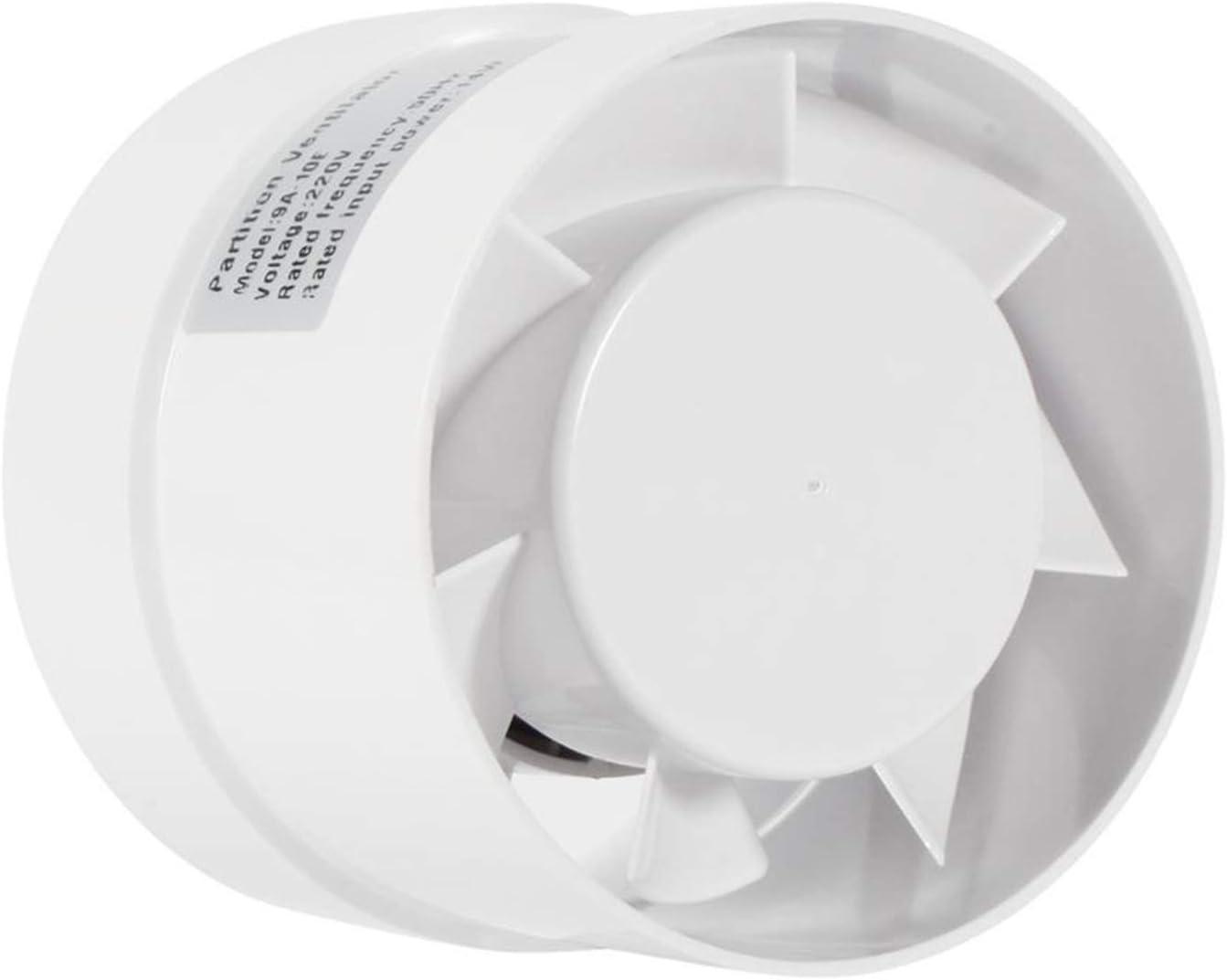 Yuhong-Vents 4/6 pulg Inicio de Escape del conducto Extractor de Aire de ventilación, ventanilla Pared de baños Ventilador WC Cocina Ventilador de ventilación 110V 220V Pared Lateral y Techo