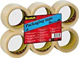 3M Scotch CT5066F6 - Pack de 6 cintas de embalar, 50 mm x 6 m, transparente