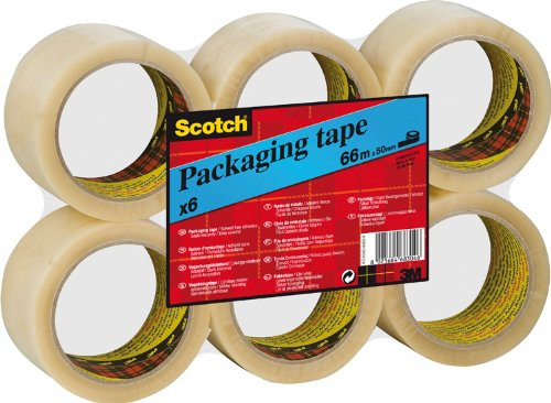tesa UK Strong Packaging Tape for Medium to Heavy items 66 m x 50 mm 6 Brown