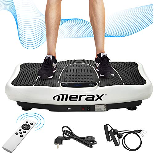 Merax Vibrationsplatte mit Leisem Motor,LCD Display,5 Trainingsprogramme 180...