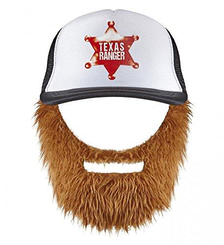 shoperama Chuck Norris Texas Ranger Basecap mit Bart Cap Mütze Hut Holzfäller Hipster Kappe