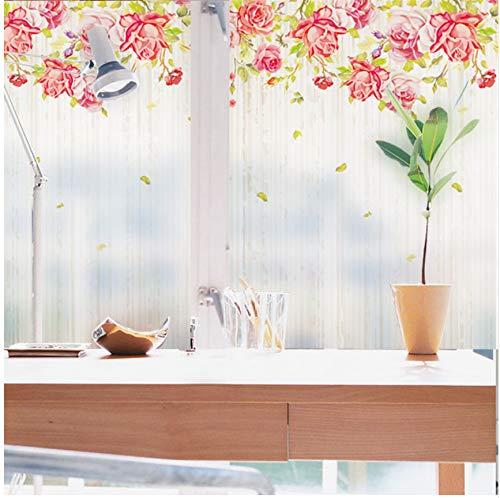 Lvabc op maat gemaakte statische Cling glas in lood raamfolie mat ondoorzichtig & privacy huisdecoratie digitale afdrukken verwijderbare Bloom tijd