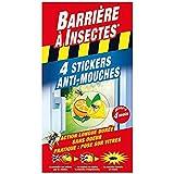 BARRIERE A INSECTES Stickers Anti-Mouches Vitres, Jusqu'à 4 mois, Présentation Décorative, 4 stickers, BARSTIK