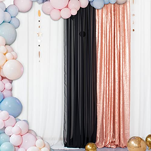 ShinyBeauty- Rideau de Toile de Fond en Paillette, Fond de Photographie étincelant pour la décoration (60x215cm, Rougir)