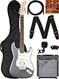 Fender Squier Affinity Stratocaster HSS - Slick Silver Bundle with Frontman 10G Amplifier, Gig Bag, Instrument Cable, Tuner, Strap, Picks, and Austin Bazaar Instructional DVD