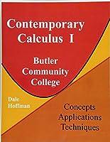 Contemporary Calculus I: Butler Community College