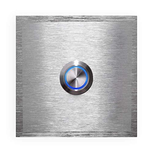 Metzler Türklingel - inkl. Gravur-Service - LED-beleuchtet - aus Edelstahl V2A - Klingel-Platte - Maße: 60 x 60 mm