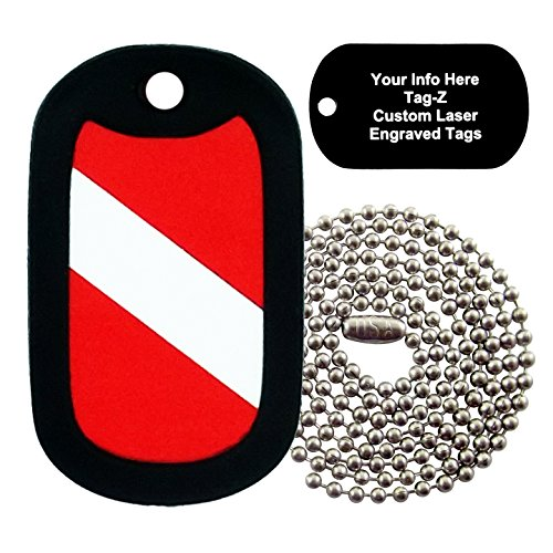Tag-Z Military Dog Tags - Custom Engraved Diver Military Dog Tag Necklace