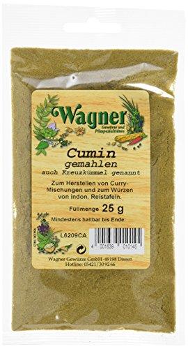 Wagner Gewürze Cumin (Kreuzkümmel) gemahlen (1 x 25 g)