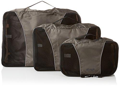 eBags Packing Cubes Packtaschen: 3-teiliges Packwürfel-Set gemischt (Titangrau)