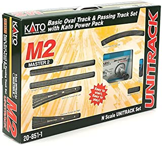 Kato USA Model Train Products M2 UNITRACK Basic Oval and Siding with Kato Power Pack
