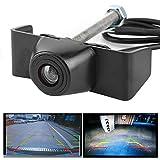 Kuuleyn Telecamera per auto, ABS IP67 Impermeabile Nero 170 gradi Telecamera per visione frontale ultra ampia Visione notturna Assistenza al parcheggio Adatto per auto Camion Furgoni Camper