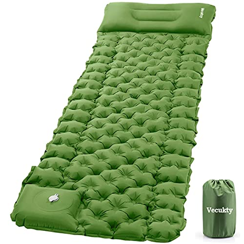 VECUKTY Inflatable Camping Sleeping Pads with Pillow, Camping Air Mat with...