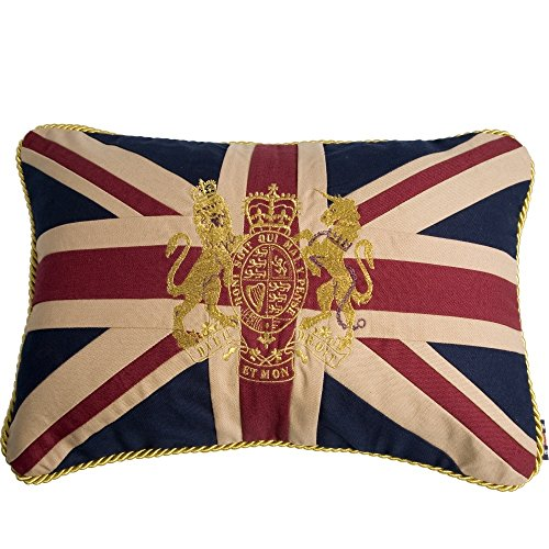 Woven Magic Couch Cushion - Union Jack with Royal Crest