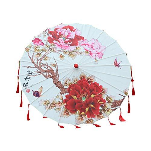 Hankyky handgefertigter chinesischer Sonnenschirm aus geöltem Papier für Hochzeiten und persönlichen Sonnenschutz