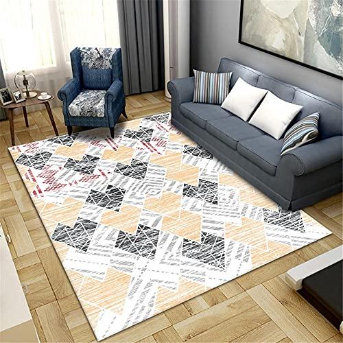 alfombras habitacion,Alfombra Amarilla, Resistencia al Piso al Desgaste y sofá Duradero Alfombra Antideslizante ,alfombras de Salon Modernas -Amarillo_40x60cm
