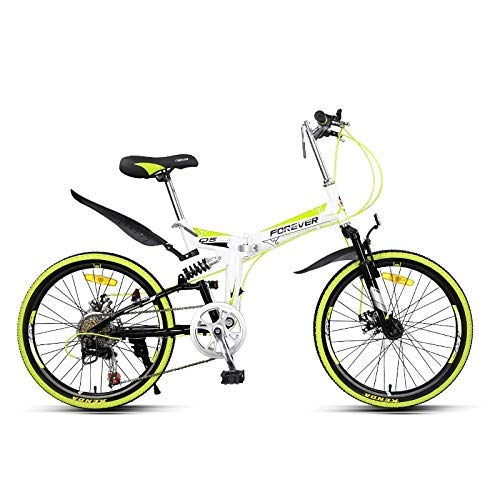 LJYY Girls & Boys Kids Freestyle Bicycle Folding Bike Bicycle, Mountain Bikes Bicycles, 22 Inch City Bike, Full Suspension Bikes