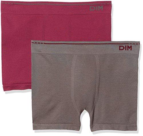 Unno DIM Basic Herren Boxershorts AD005HF.5OM, 2er Pack, Rot (Rot 5om), Large (Herstellergröße: 4)