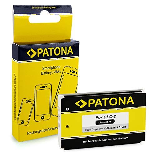 PATONA Li-Ion Batteria BLC-2 con 1300mAh per Nokia 3320, 3410, 3510, 6650, 6810 | affidabile e con qualità Garantita