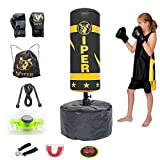 Viper Free Standing Boxing Punching Bag Stand For Kids Target Heavy Duty Punch Bags Kickboxing MMA (BLACK) C