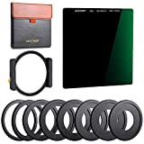 K&F Concept 100x100mm Square Filter Kit ND1000 (10 Stop) with One Filter Holder and 8 Filter Ring Compatible with Canon Nikon Camera Lens