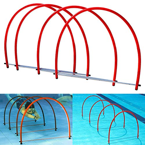 Sport-Thieme Halbrund-Tauchreifen Stand up | rot | unzerbrechlich | ø 70 cm | für Kinder und Jugendliche geeignet | füllt Sich mit Wasser |perfekt zum durch tauchen