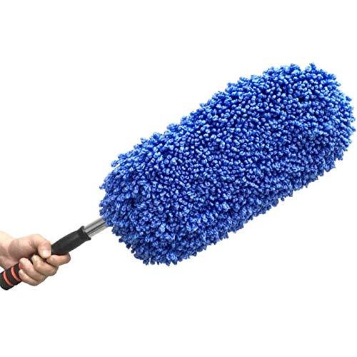 LiChaoWen Plumero de Coche Lavado de Autos Limpieza Cepillo Plumero Polvo Cera Mop Microfibra Telesperado Telesperado Herramienta de Polvo con Mango Largo Ajustable (Color : Azul, Size : One Size)