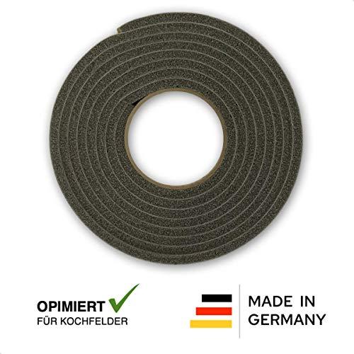 Dichtband (Komprimierband & Dichtungsband - Nr. 1 für Kochfeld & Ceranfeld in Küche - 5 m lang - einseitig selbstklebend - komprimierbar - auch Dichtung für Herdplatte)