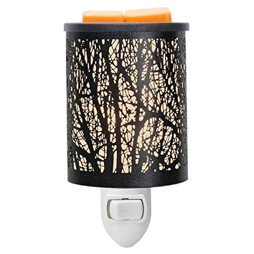 EQUSUPRO Metal Plug-in Wax Melt Warmer Night Light