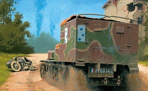 Lorraine TRC 38L VBCP 2th GM 1940 - Maqueta de chenillette blindada