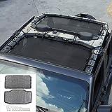 JeCar JLU Sun Shade Mesh Sunshade Provides UV Sun Protection for Jeep Wrangler 2018-2021 JL Unlimited 4 Door Front & Rear, 2 Pieces