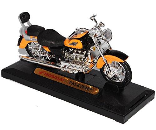 Motormax Hon-da Valkyrie Orange 1/18 Modell Motorrad mit individiuellem Wunschkennzeichen