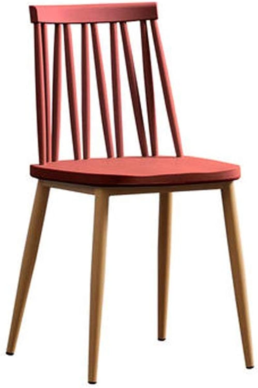 YJWOZ Lazy Home Plastic Backrest Stool Leisure Desk Windsor Chair 42×42.5×82.5cm Chair (color   E)