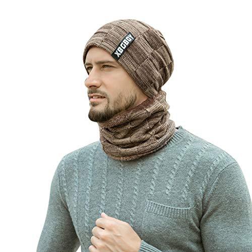 Nyuiuo Unisex Herbst Winter Windshield Schal Hut kann als Schal und Mütze verwendet Werden Hüte Strickmützen Schal Hut