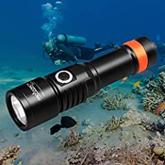 Ultra-compact & powerful: OrcaTorch D530 is a well-built dive light with novel design. It's a rugged, reliable, and compact light with a powerful output. The maximum brightness level is be up to 1300 lumens. This scuba dive light is made of aircraft-...