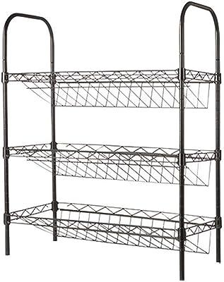 Estanter/ía 5 baldas, 41 x 23 x 86 cm Color Plateado Metaltex 343015039 Monaco