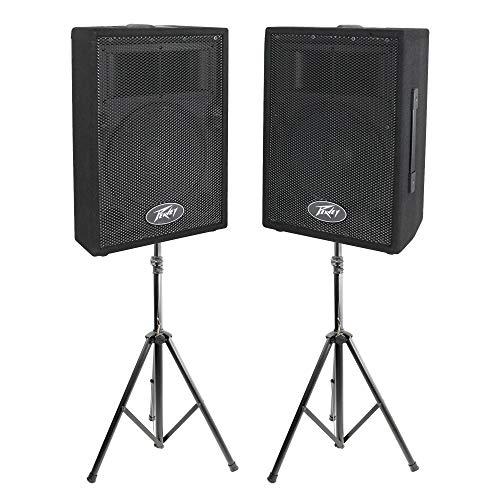 Peavey DJ 2-Way 100 Watt PA Speaker System (2 Speakers) + 6