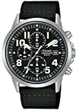 Pulsar Mens Military Watch with Black Nylon Strap PM3175X1