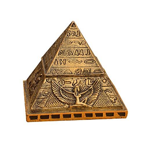 Las urnas a mano en relieve, gato y perro de mascota antigua pirámide egipcia ataúd de escape habitación Aventura Juego Pantalla Pequeña Columbario ( Color : Brass , Size : 13*13*13.5cm )