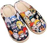 Zapatillas de Estar por Casa Felpa Japonesas Lindas de Anime para Hombres y Mujer de Otoño e Invierno Zapatos Casuales Cálidos Antideslizantes Caseros Naruto-(Mujer39-42/Hombre38.5-41) EU 280