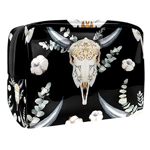 Bolsa de maquillaje de PVC para mujer y niña, organizador de artículos de tocador cosméticos, bolsa de 17 x 7 x 5 cm, patrón de unicornio