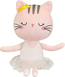 Kitty Ballerina Dolls Plush Cat Stuffed Animals Toys Ballet Dance Recital Gifts for Girls 13.5 Inches